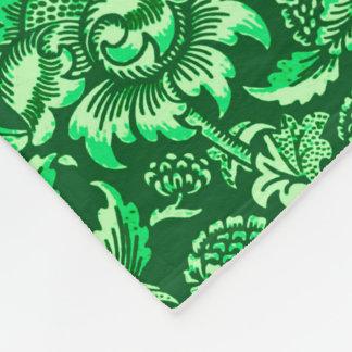William Morris Sunflowers, Emerald Green Fleece Blanket