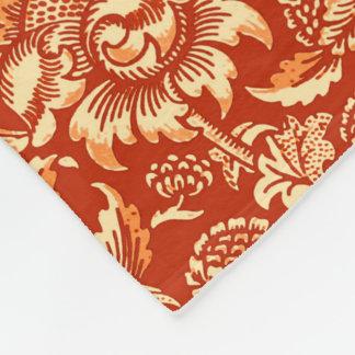 William Morris Sunflowers, Mandarin Orange Fleece Blanket