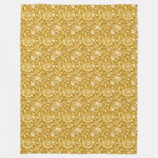 William Morris Sunflowers, Mustard Yellow / Gold Fleece Blanket