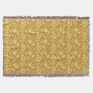 William Morris Sunflowers, Mustard Yellow / Gold Throw Blanket