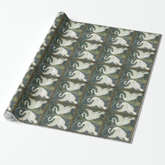 William Morris Swans Vintage Wrapping Paper