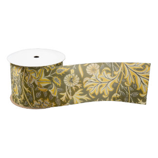 William Morris The Cherwell Design For Velveteen Satin Ribbon