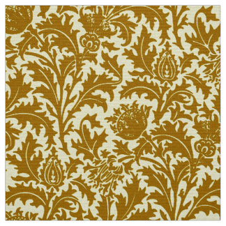 William Morris Thistle Damask, Mustard Gold Fabric