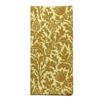 William Morris Thistle Damask, Mustard Gold Napkin
