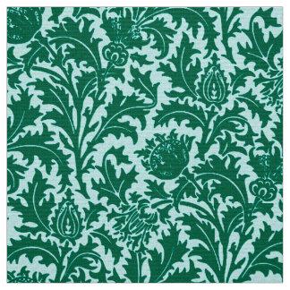 William Morris Thistle Damask, Turquoise and Aqua Fabric