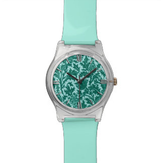 William Morris Thistle Damask, Turquoise and Aqua Watch