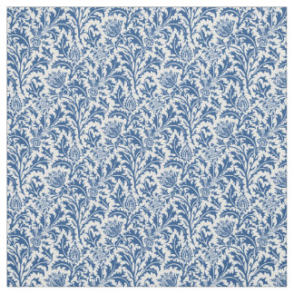 William Morris Thistle Pattern Custom Color Fabric