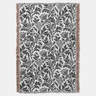 William Morris Thistle Pattern Elegant Throw Blanket