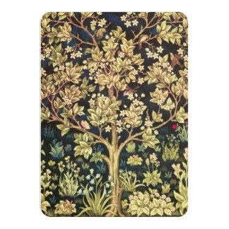 William Morris Tree Of Life 11 Cm X 16 Cm Invitation Card