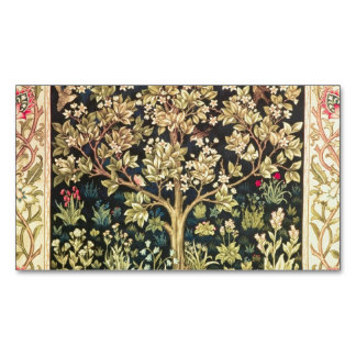 William Morris Tree Of Life Floral Vintage Art Magnetic Business Cards (Pack Of 25)