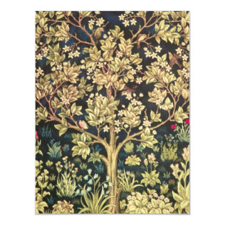 William Morris Tree Of Life Floral Vintage Art Magnetic Invitations