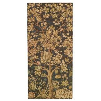 William Morris Tree Of Life Floral Vintage Art Wood USB 2.0 Flash Drive