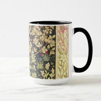 William Morris Tree Of Life Floral Vintage Art Mug