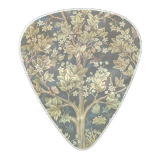 William Morris Tree Of Life Floral Vintage Art Pearl Celluloid Guitar Pick