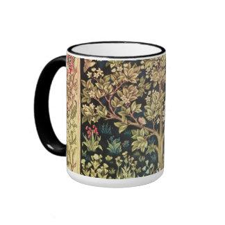 William Morris Tree Of Life Floral Vintage Art Ringer Mug