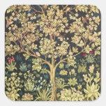 William Morris Tree Of Life Floral Vintage Art Square Sticker