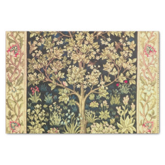 William Morris Tree Of Life Floral Vintage Art Tissue Paper