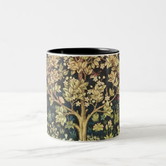 William Morris Tree Of Life Floral Vintage Art Two-Tone Coffee Mug