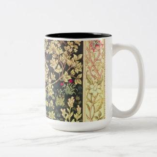 William Morris Tree Of Life Floral Vintage Art Two-Tone Mug