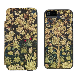 William Morris Tree Of Life Floral Vintage Art Incipio Watson™ iPhone 5 Wallet Case
