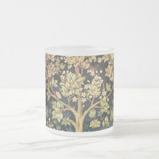 William Morris Tree Of Life Frosted Glass Mug
