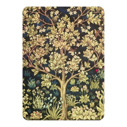 William Morris Tree Of Life Invitation