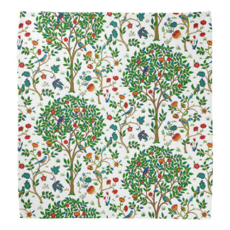 William Morris Tree of Life Pattern, Green & Multi Bandana