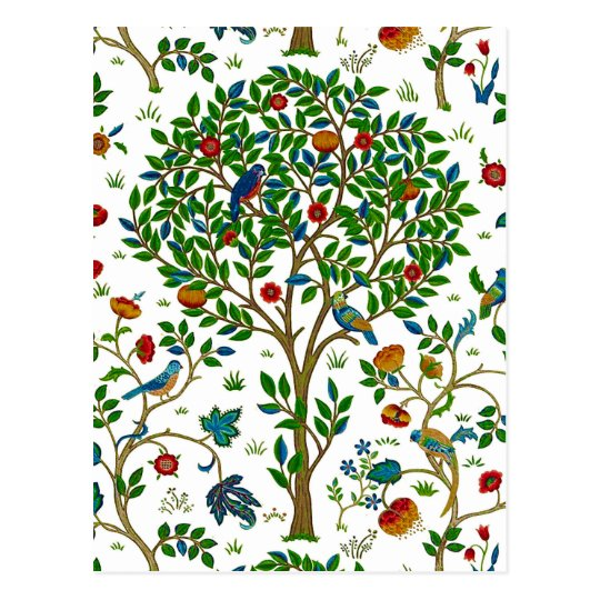 William Morris Tree of Life Pattern, Green &