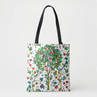 William Morris Tree of Life Pattern, Green & Multi Tote Bag