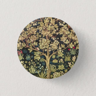 William Morris Tree Of Life Vintage Pre-Raphaelite 3 Cm Round Badge