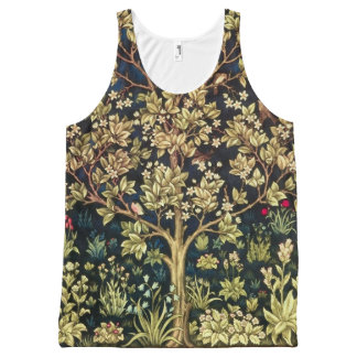 William Morris Tree Of Life Vintage Pre-Raphaelite All-Over Print Tank Top