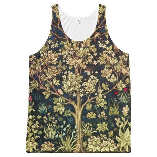 William Morris Tree Of Life Vintage Pre-Raphaelite All-over Print Tank Top