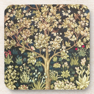 William Morris Tree Of Life Vintage Pre-Raphaelite Beverage Coasters