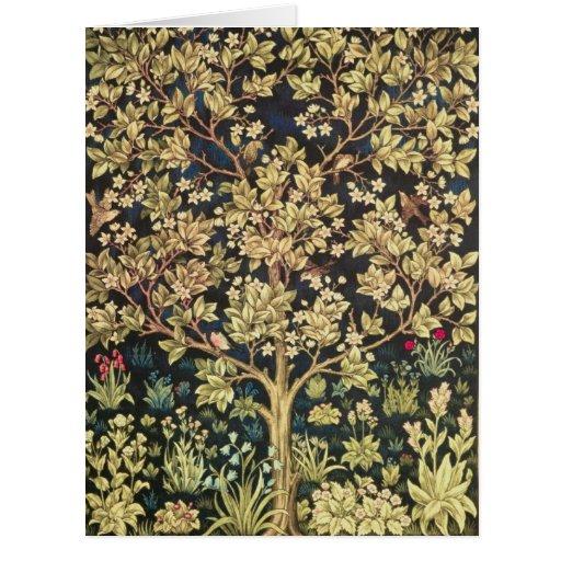William Morris Tree Of Life Vintage Pre-Raphaelite Card