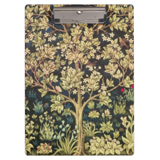 William Morris Tree Of Life Vintage Pre-Raphaelite Clipboard