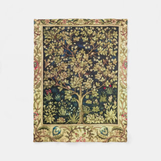 William Morris Tree Of Life Vintage Pre-Raphaelite Fleece Blanket