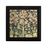 William Morris Tree Of Life Vintage Pre-Raphaelite Small Square Gift Box