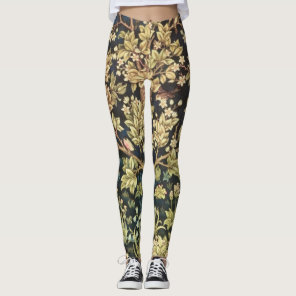 William Morris Tree Of Life Vintage Pre-Raphaelite Leggings