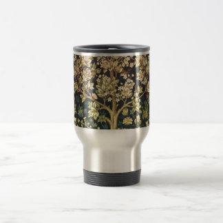 William Morris Tree Of Life Vintage Pre-Raphaelite 15 Oz Stainless Steel Travel Mug