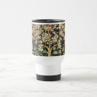 William Morris Tree Of Life Vintage Pre-Raphaelite Stainless Steel Travel Mug