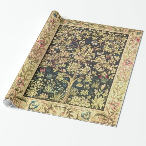William Morris Tree Of Life Vintage Pre-Raphaelite Wrapping Paper