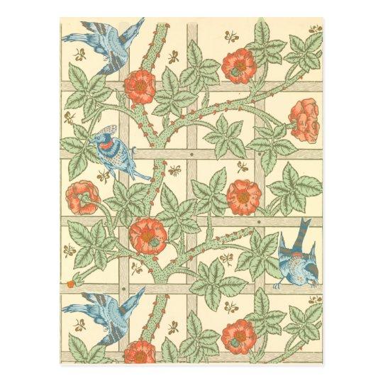 William Morris Trellis: William Morris Trellis Pattern Postcard