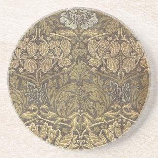 William Morris Tulip and Rose Pattern Coasters