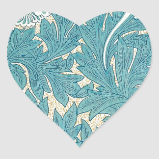 William Morris Tulip Heart Sticker