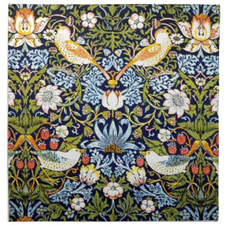 William Morris vintage design - Strawberry Thief Napkin