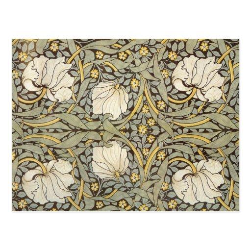 William Morris Vintage Flowers Postcards