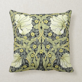 William Morris Vintage Flowers Throw Pillow