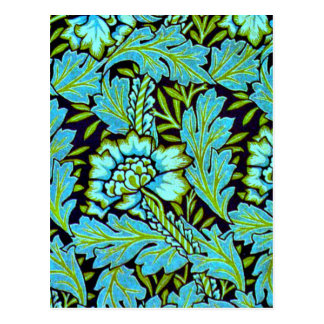 William Morris Vintage Pattern - Anemone Postcard