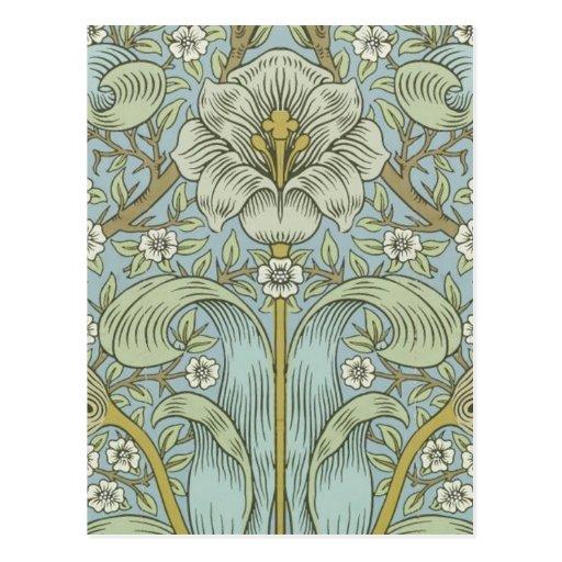 William Morris Vintage Spring thicket Floral Desig Postcards