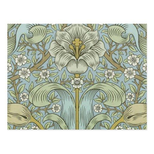 William Morris Vintage Spring thicket Floral Desig Post Cards